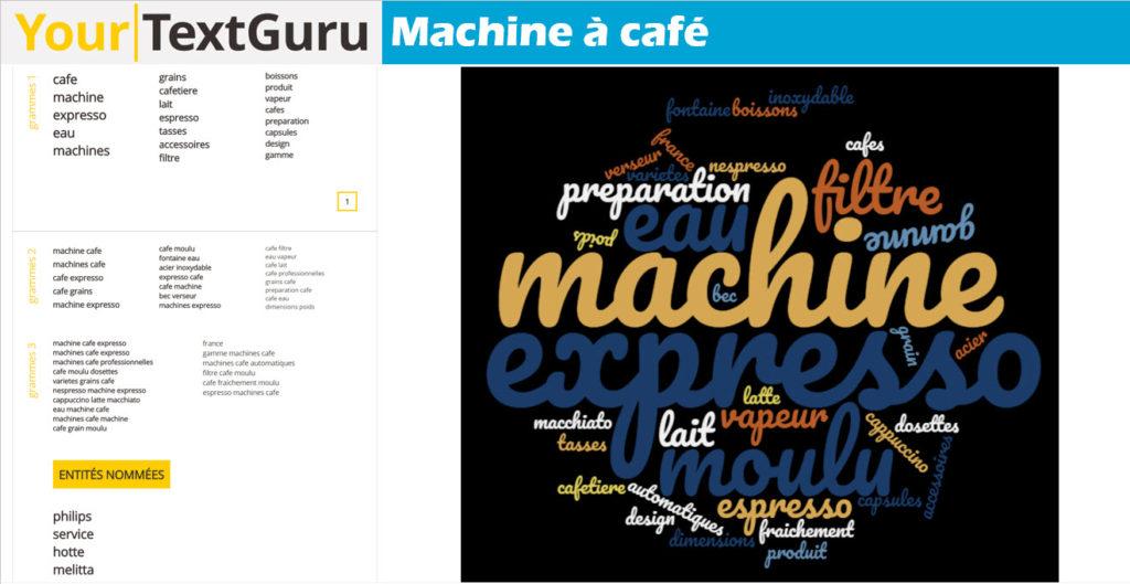 Extensions sémantiques requête machine à café